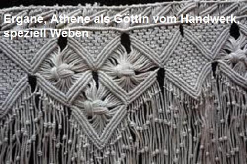 Ergane (Mythologie): Beiname der Athene (Handwerk, Weben, Spinnerei) Ergane10
