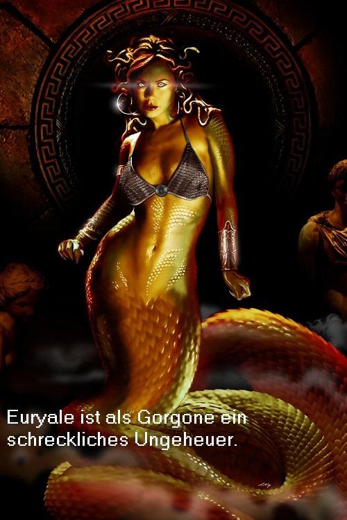 Euryale (Mythologie): Als Gorgone ein schreckliches Ungeheuer Euryal10