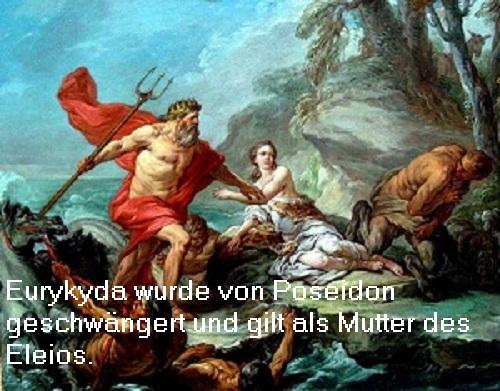 Eurykyda (Mythologie): Von Poseidon wurde Eurykyda geschwängert, Mutter des Eleios Euryky10