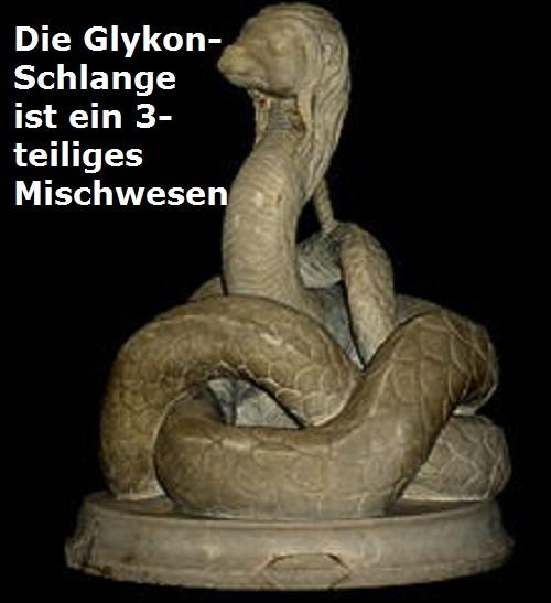 Glykon-Schlange (Mythologie): 3-teiliges Mischwesen Glykon10