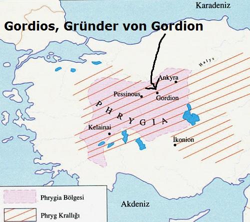Gordios (Mythologie): König von Phrygien und Gründer von Gorgion Gordio10