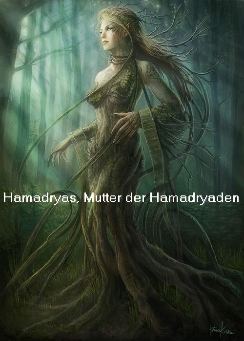 Hamadryas (Mythologie): Mutter der Hamadryaden Hamadr10