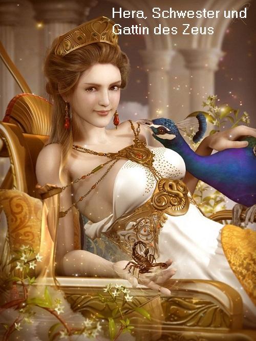 Hera: Muttergöttin der olympischen Götter, Schwester und Gattin des Zeus, Tochter von Rhea und Kronos Hera10