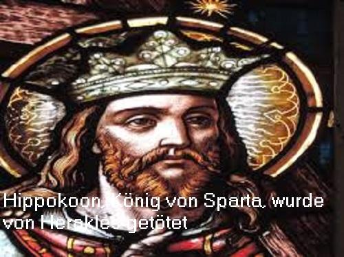 Hippokoon (Mythologie): König von Sparta, wurde von Herakles getötet Hippok12