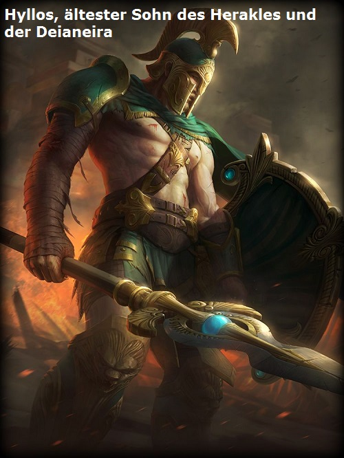 Hyllos (Mythologie): Ältester Sohn des Herakles und der Deianeira Hyllos10