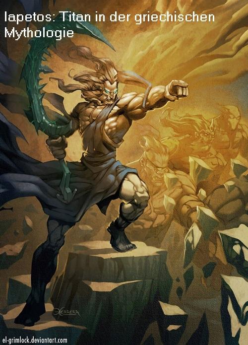 Lapetos ist ein Titan und Sohn von Gaia und Uranos Iapeto10