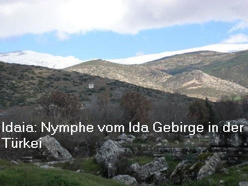 Idaia (Mythologie): Nymphe vom Ida Gebirge in der Türkei Idaia10
