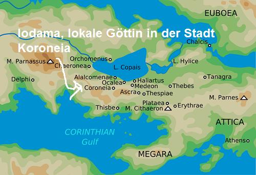 Iodama (Mythologie): Lokale Göttin in der Stadt Koroneia Iodama10