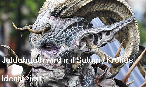 Jaldabaoth aus der hebräischen Mythologie wird mit römisch Saturn und griechisch Kronos identifiziert Jaldab10