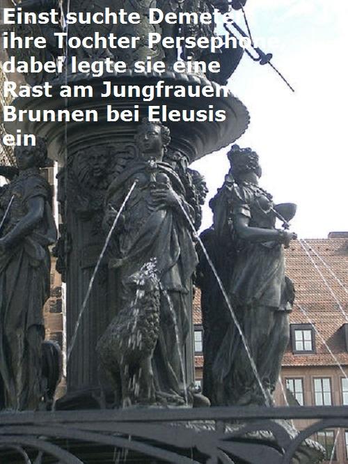 Anthion phrear / Parthenion phrear (Mythologie): Blumenbrunnen bzw. Jungfrauenbrunnen Jungfr11