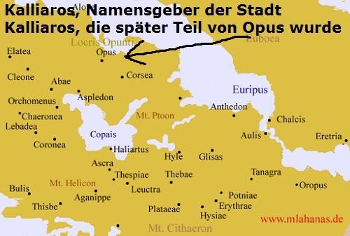 Kalliaros (Mythologie): Namensgeber (Eponym) der Stadt Kalliaros in Lokris Kallia10