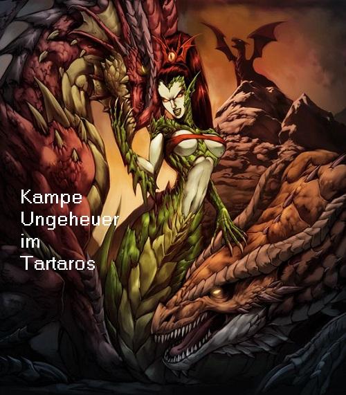 Kampe (Mythologie): Ungeheuer, dass die Hekatoncheiren und Kyklopen im Tartaros bewachte Kampe10