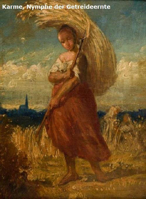 Karme (Mythologie): Kretische Nymphe (Halbgöttin) der Getreideernte Karme10