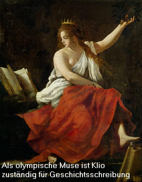 Klio (Mythologie, auch Kleio / Clio): Muse der Heldendichtung und Geschichtschreibung Klio10