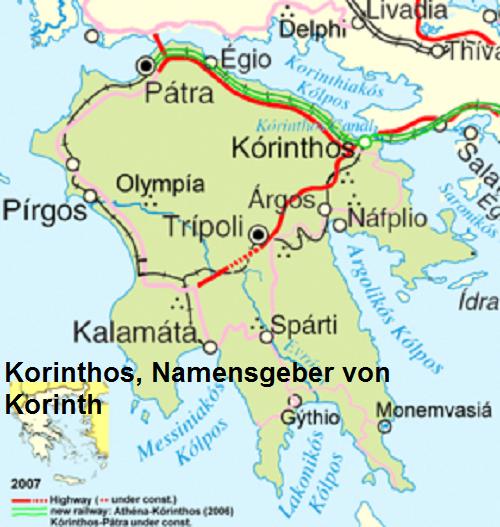 Korinthos (Mythologie): Namensgeber von Korinth Korint10