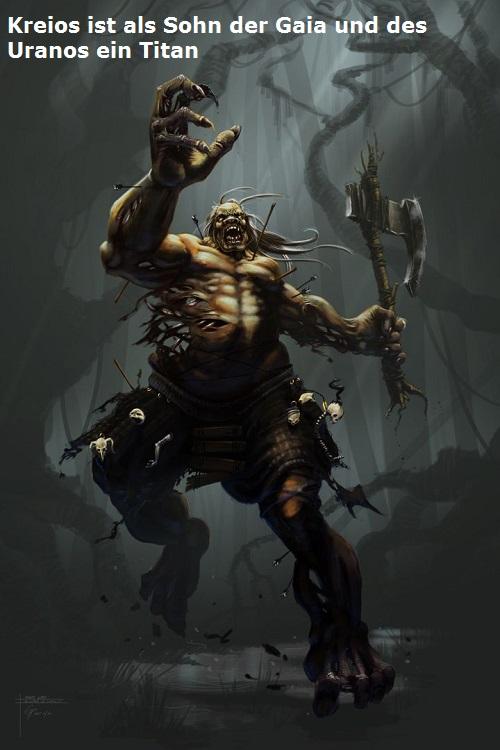 Kreios (auch Krios) Titan, Sohn von Gaia und Uranos Kreios11