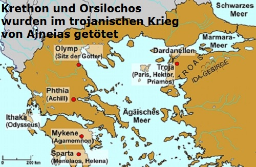 Krethon und Orsilochos (Mythologie): Söhne des Diokles Kretho10