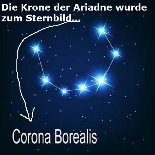 Krotos (Mythologie): Sohn des Pan, heute Corona Australis (Ehrenkranz) Krone10