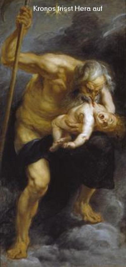 Kronos: Boss der Titanen, Sohn von Gaia und Uranos, Vater des Zeus Kronos10