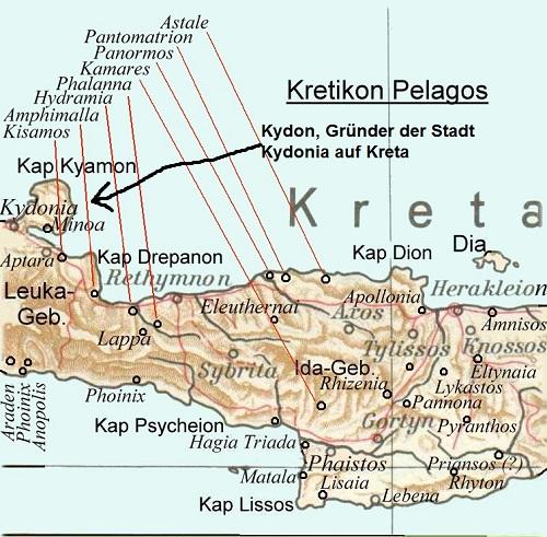 Kydon (Mythologie): Gründer der Stadt Kydonia auf Kreta Kydon10