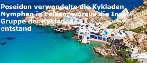 Kykladen (Entstehung, Mythologie): Griechische Insel-Gruppe Kyklad10