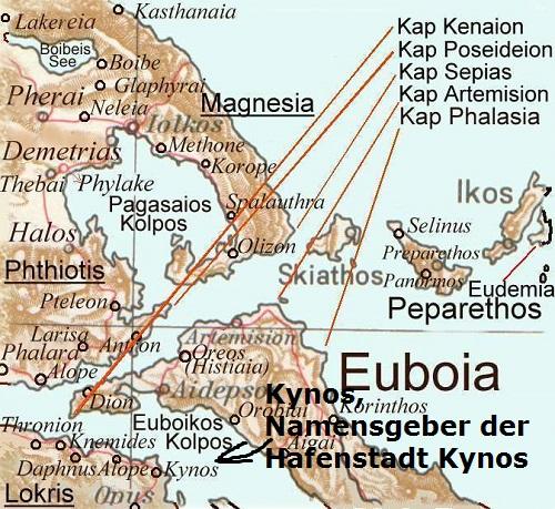 Kynos (Mythologie): Eponymer Heros der Hafenstadt Kynos Kynos10