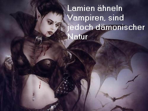 Lamien (Mythologie): Dämonen / Bestien, die große Ähnlichkeiten mit Vampiren aufweisen Lamien10