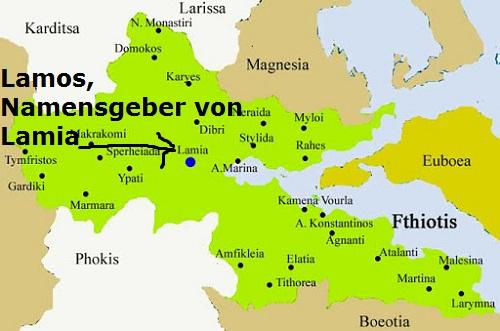 Lamos (Mythologie): Namensgeber der Stadt Lamia in Mittelgriechenland Lamos10