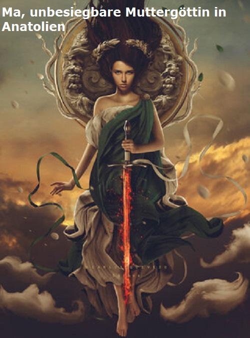 Ma (Mythologie): Mutter, als Göttin unbesiegbar, anatolische Gottheit Ma10
