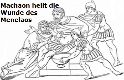 Machaon (Mythologie): Arzt der Griechen, Sohn des Asklepios Machao10