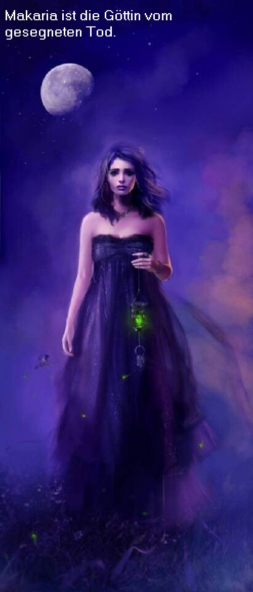 Makaria (Mythologie, Tochter des Hades): Göttin vom gesegneten Tod Makari10