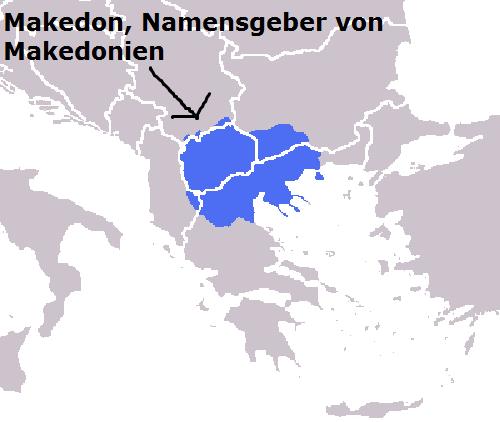 Makedon (Mythologie): Eponymer Heros von Makedonien und der Makedonen Makedo10