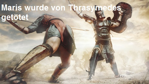Maris (Mythologie): Wurde von Thrasymedes getötet Maris10