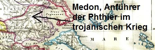 Medon (Mythologie): Anführer der Phthier im trojanischen Krieg Medon110