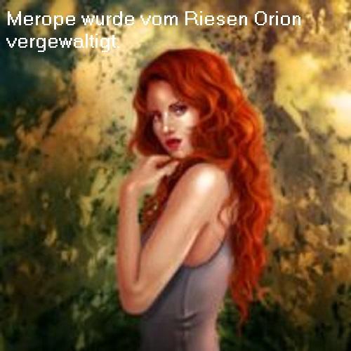 Merope, die Götter und die Sternbilder Skorpion und Orion am Himmelszelt Merope10