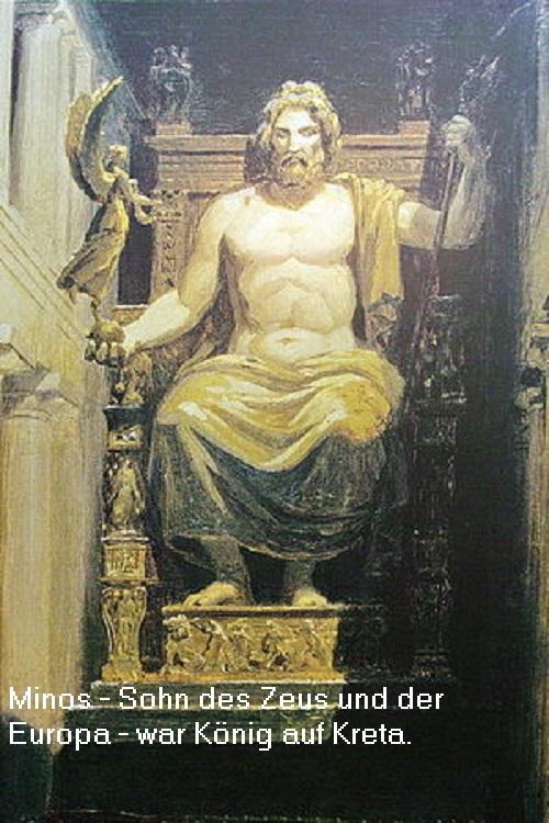 Minos (Mythologie): Sohn des Zeus und der Europa, König auf Kreta Minos10
