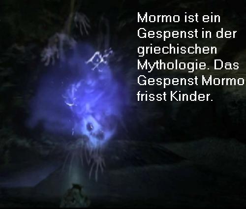 Mormo (Mythologie): Weibliches Gespenst, dass Kindern nachstellt und sie frisst Mormo10