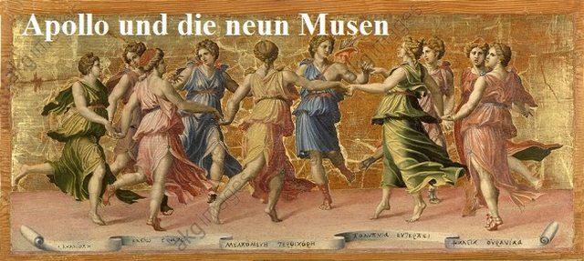 Musen: Die neun olympischen Musen sind die Schutzgöttinnen der Künste Musen10