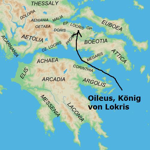 Oileus (Mythologie): König von Lokris und Vater vom Kleinen Ajax Oileus10