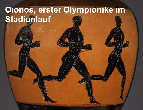 Oionos (Mythologie): Erster Olympionike im Stadionlauf Oionos10