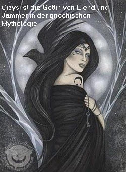 Oizys (Mythologie): Tochter der Nyx, Göttin von Elend und Jammer Oizys10