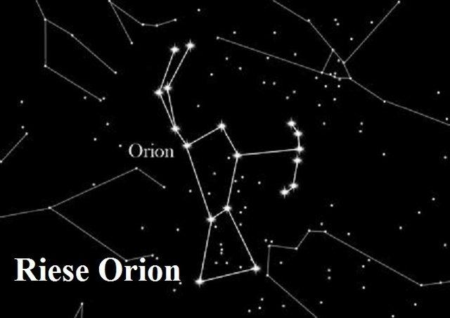 Orion war ein Riese in der griechischen Mythologie. Heute befindet sich Orion als Sternbild am Himmelszelt Orion10
