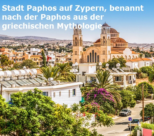 Paphos (Mythologie): Namensgeberin der Stadt Paphos auf Zypern Paphos10