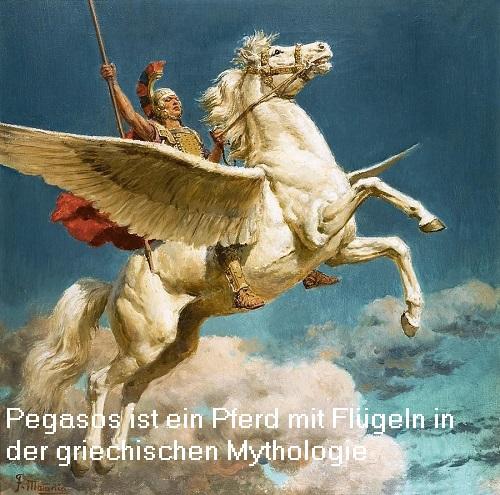Pegasos (Mythologie): Pferd mit Flügeln Pegaso10