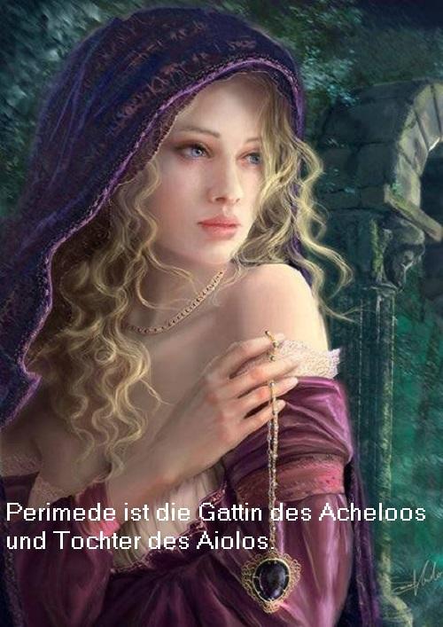 Perimede (Mythologie): Geliebte des Acheloos, Tochter des Aiolos Perime10