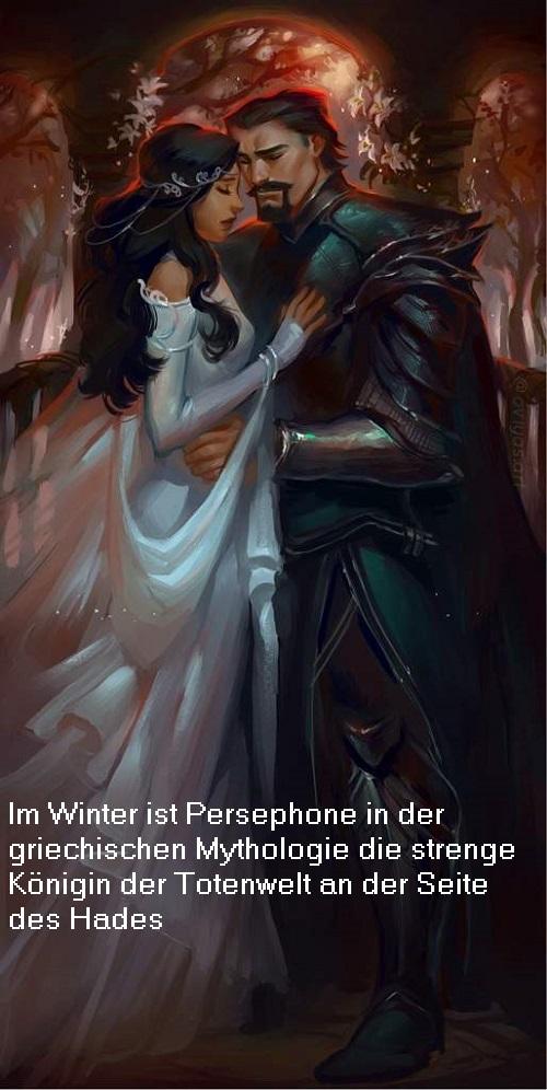 Persephone (Kore / Kora): Königin der Totenwelt im Winter und Göttin der Fruchtbarkeit im Sommer Persep10
