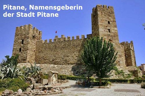 Pitane (Mythologie): Eponyme Heroine der Stadt Pitane Pitane10