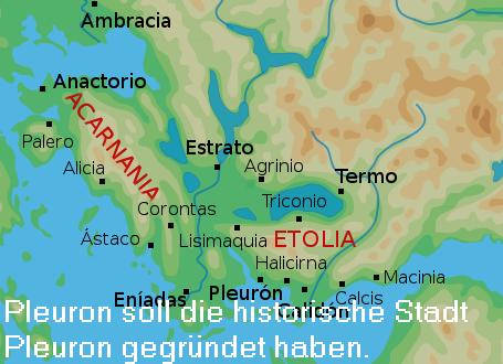 Pleuron (Mythologie): Gründer der Stadt Pleuron, Sohn des Aitolos Pleuro10