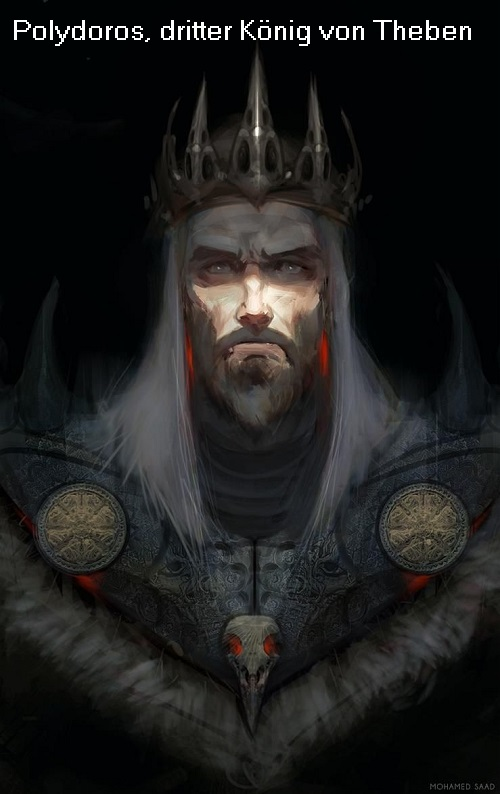 Polydoros (Mythologie): Dritter König von Theben, Sohn des Kadmos Polydo10