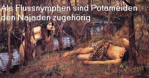 Potameiden (Mythologie): Eine Potameide ist eine Nymphe, die ihren Fluss beschützt Potame10